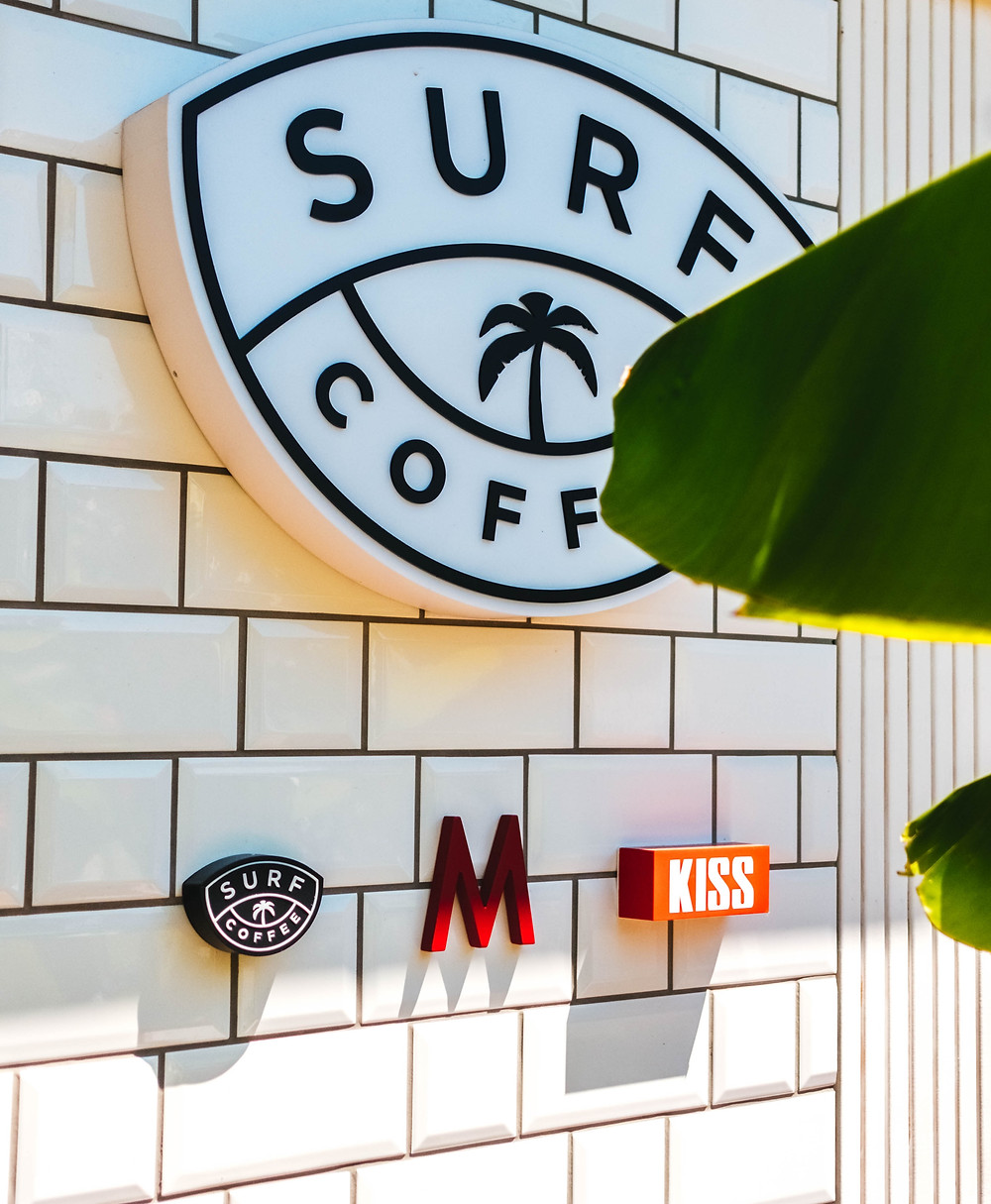 Surf Coffee shop casual location