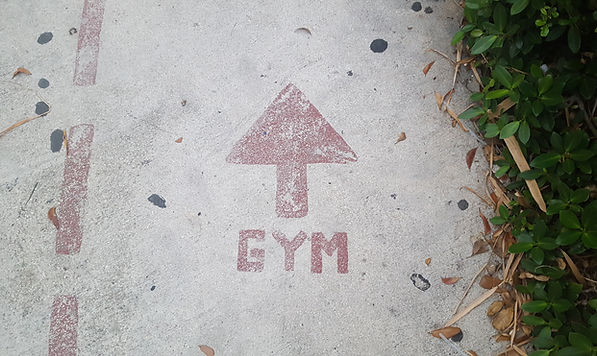 The gym is this way image