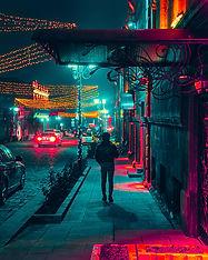 Night Street Photo in Yerevan
