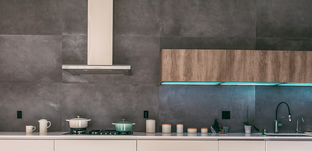 concrete kitchen wall
