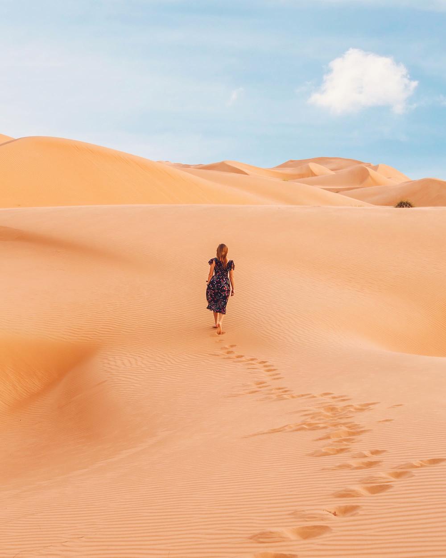 Woman walking in desert - www.AlwaysChoose.com