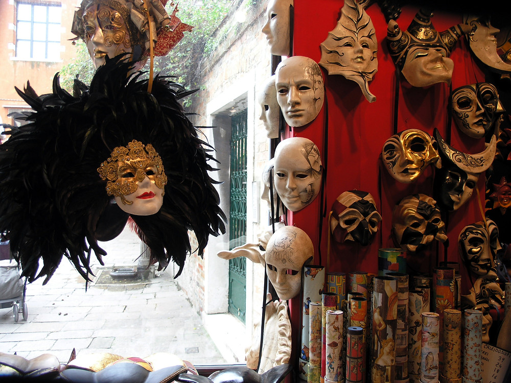 Masks in shop