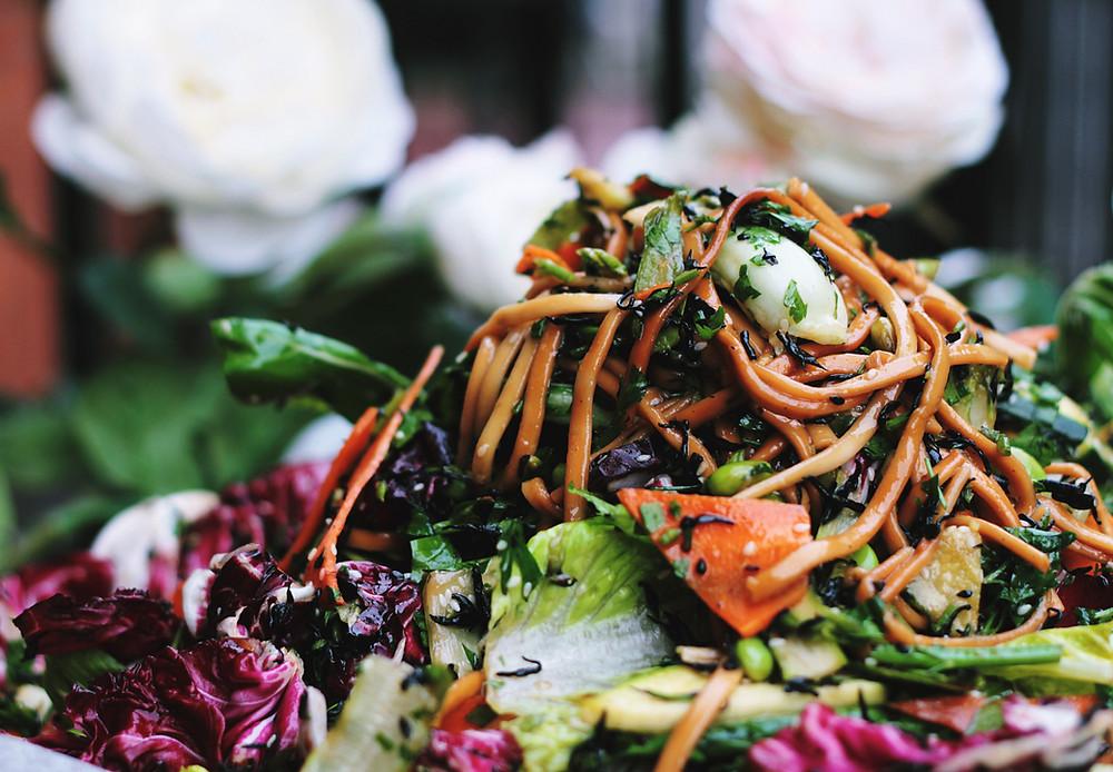 a delicious fresh salad