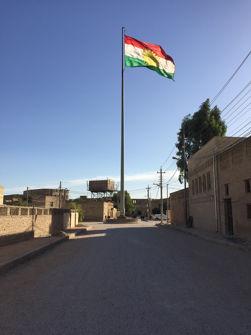 Kurdish Flag in Erbil