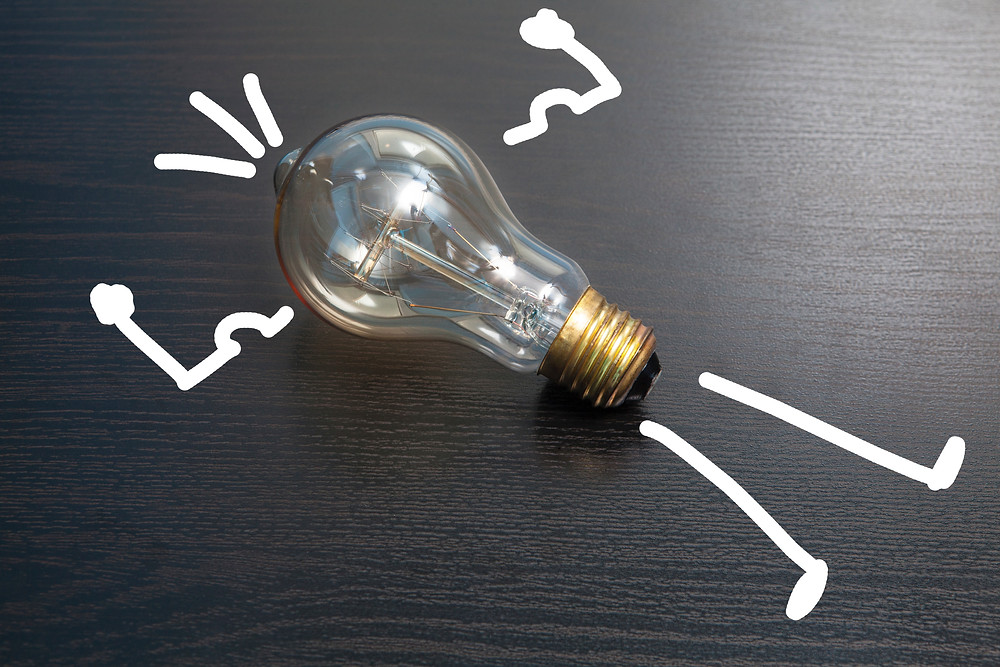 Idea illustrated by a light bulb.