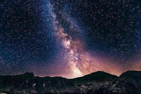 Milky Way over Mountains Diamond Light Healing Tim Snell