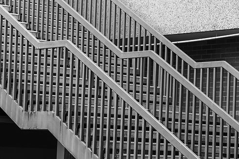 Black and white steps Image by Mitchell Luo