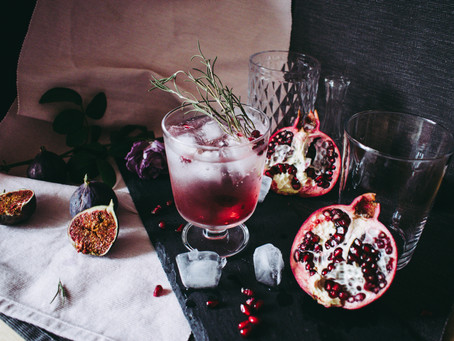 Roasted Pomegranate Sage Cocktail