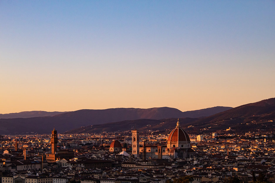 Sunsent over Florence and the Duomo Image by Madeline Bowen