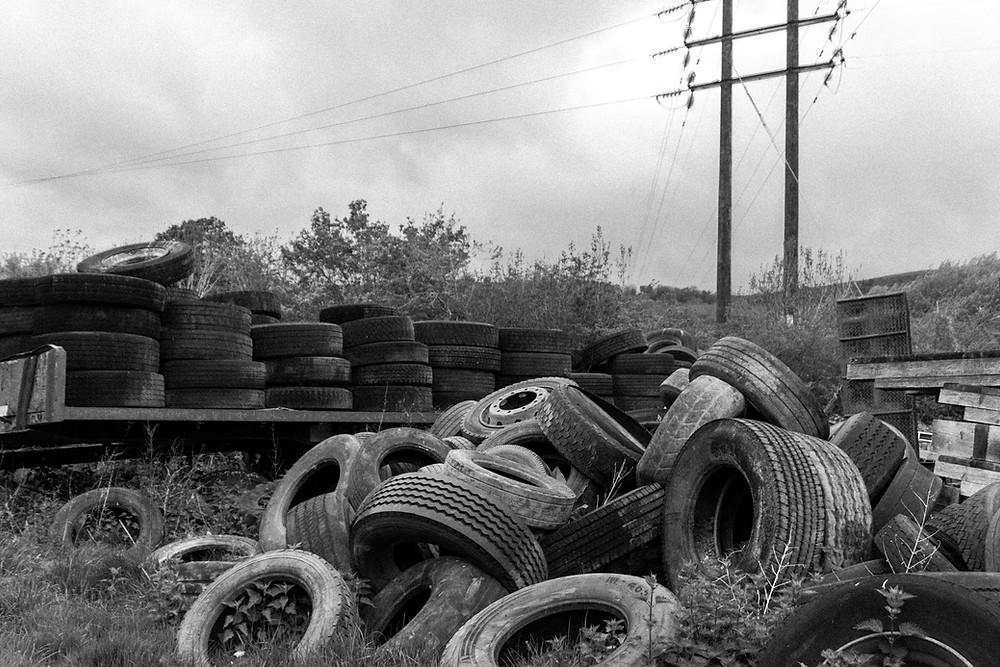 Truck tyre disposal