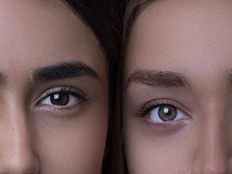 Two women looking after their eyes