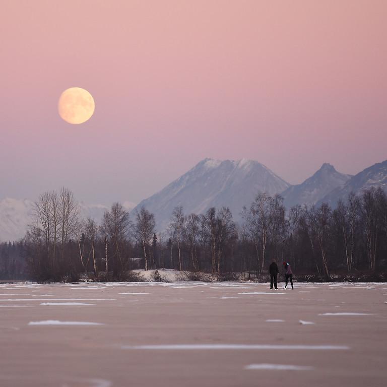 Snow  Full Moon Gong Bath