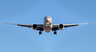 Aeroplane landing ready for airport transfer to skegness