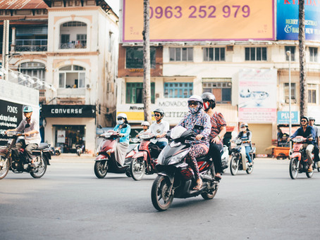 Riding a scooter in Vietnam... it's not just for locals and backpackers.