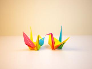 Origami modellen vouwen