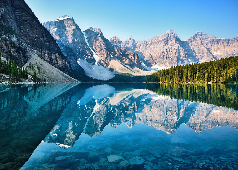 Snow capped mountains in Canada