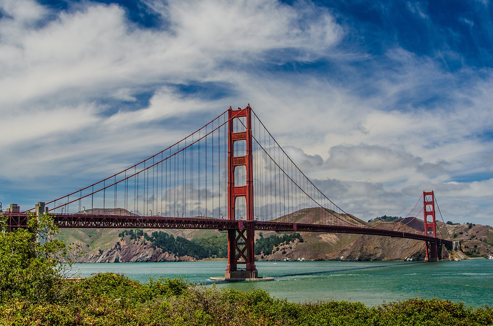 Another picture of the Golden Gate Bridge in San Francisco (SF), California. Another fun things to do there