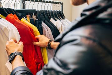 Man väljer kläder - kundräknare