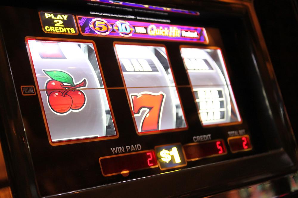 slot machine representing gambling in video games