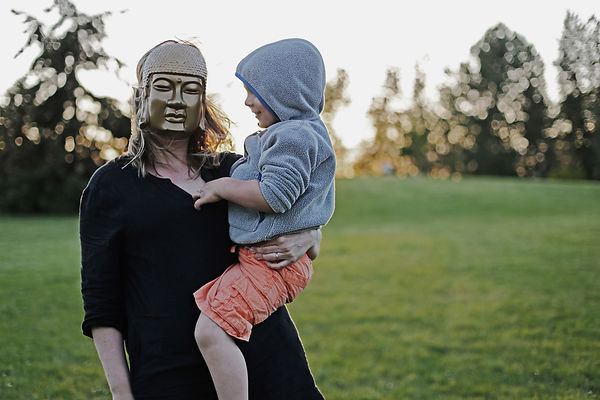 mom son mask hoodie