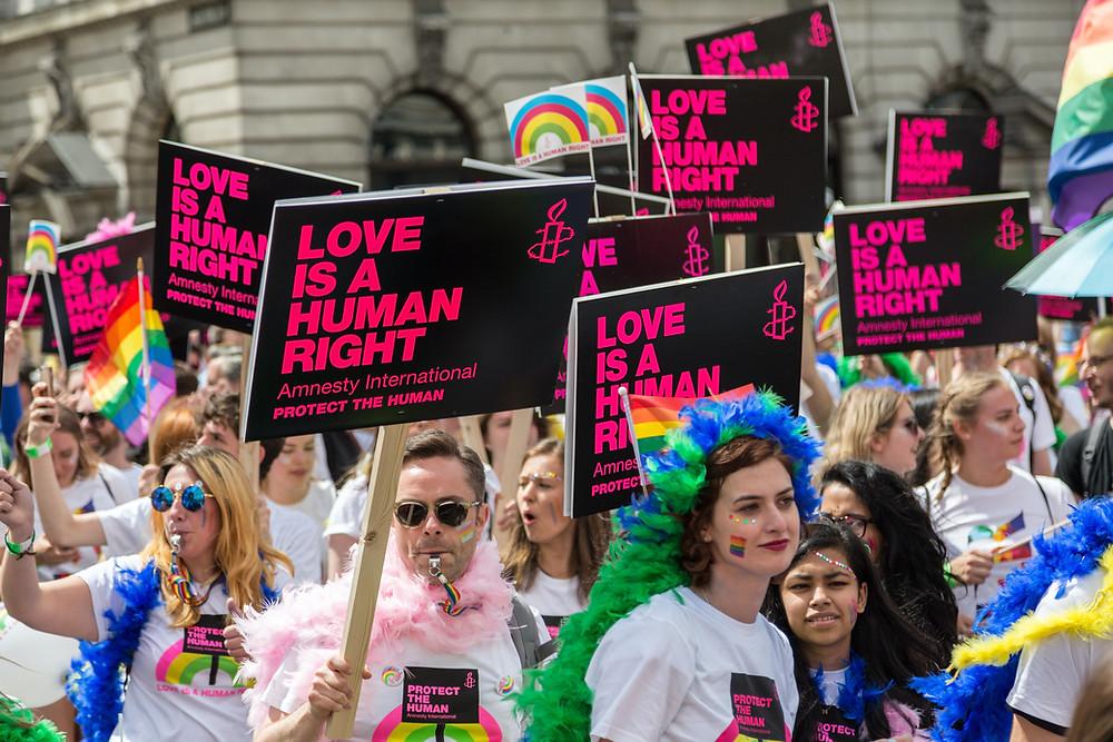 LGBTQ+ demonstration