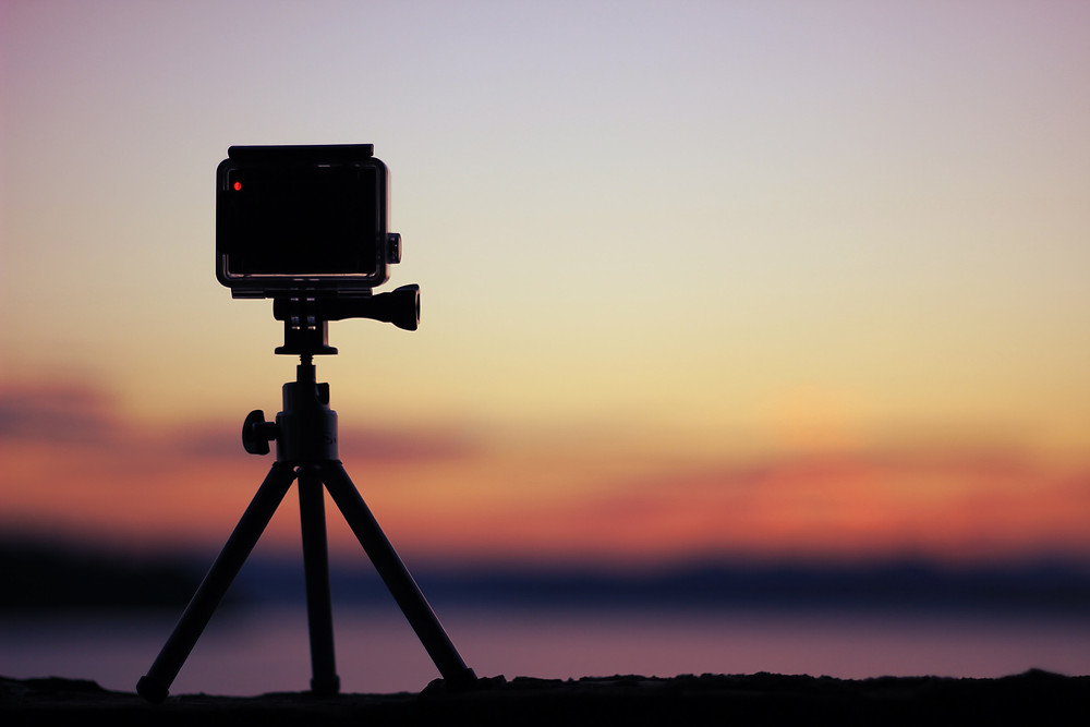 GoPro shooting a time lapse capture of a landscape