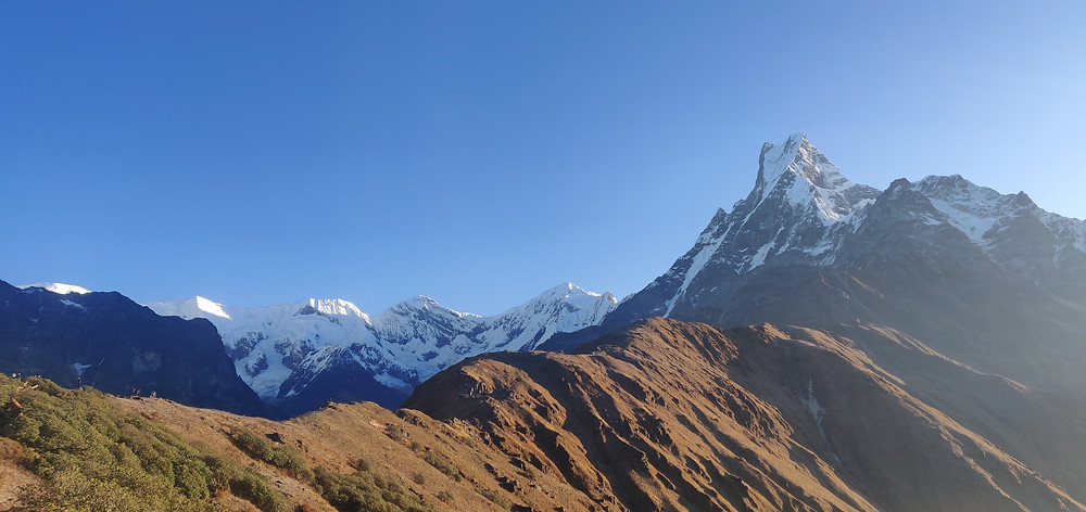 A Beautiful View Of Mountains In Nepal