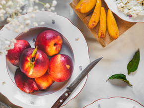 PEACHES & HERBS...The Best Cobbler Recipe for Afternoon Tea!