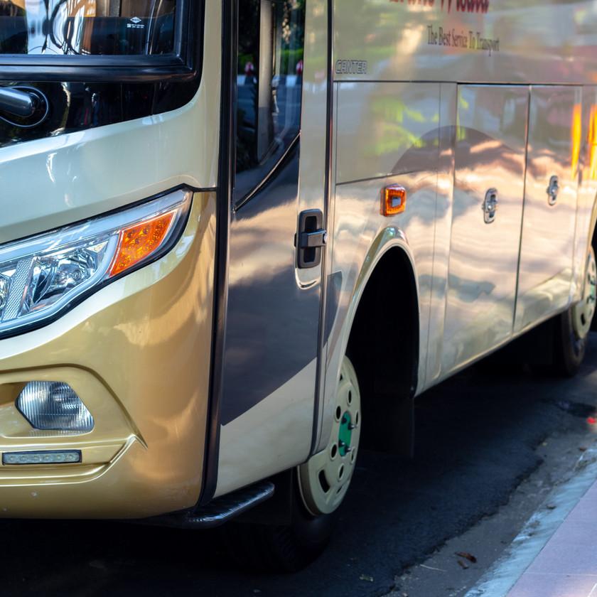 A bus from Ben Gurion Airport
