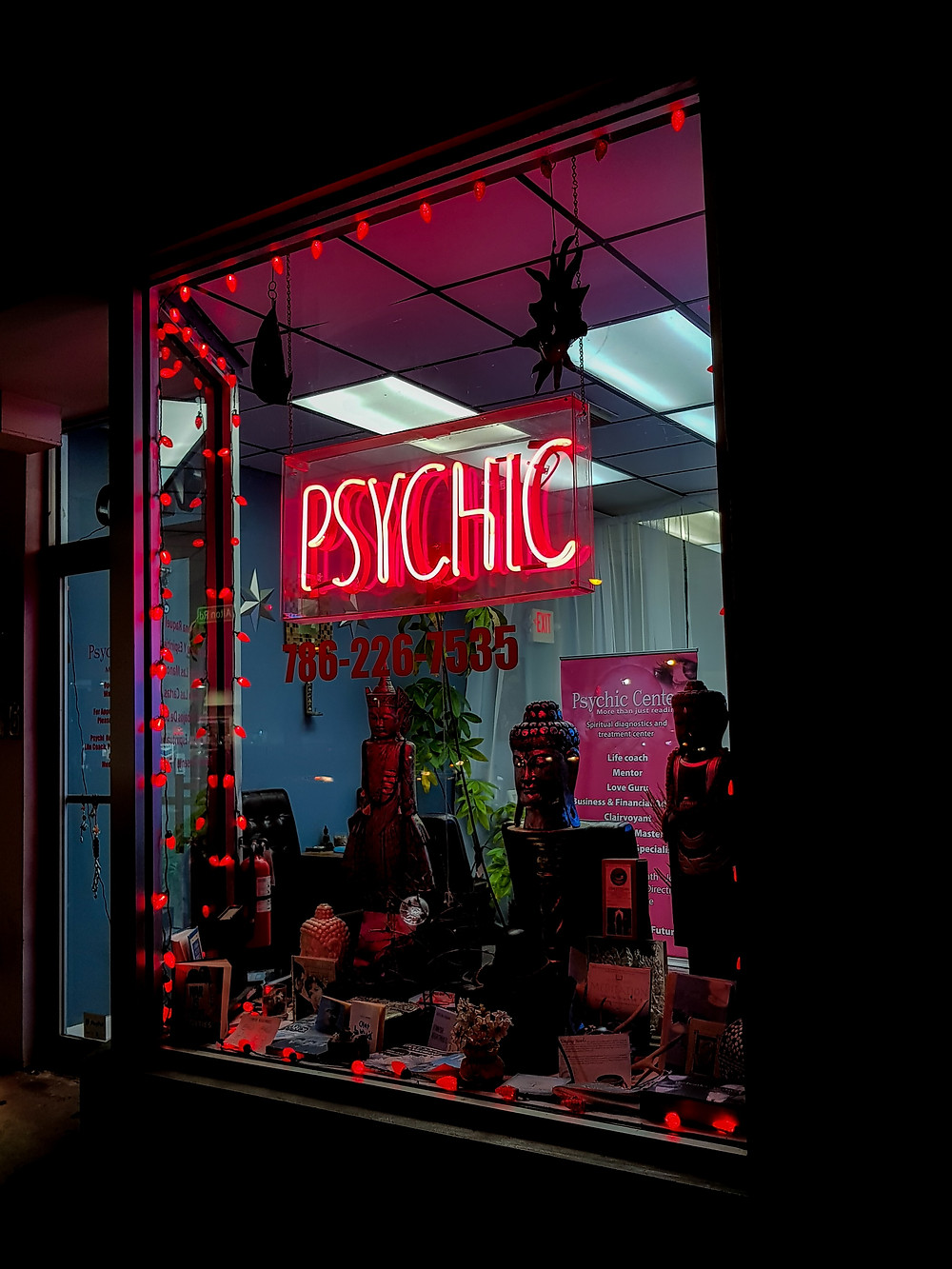 The vivid nature of psychic thoughts is similar to that of the flamboyance of the picture