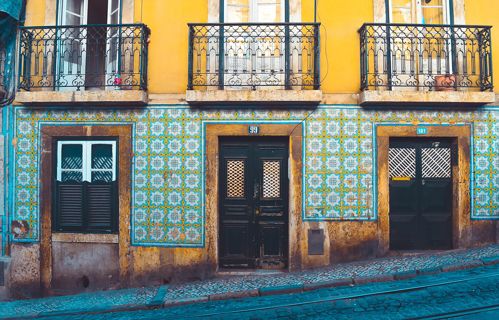 colorful azulejos in Lisbon