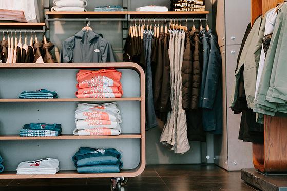 custom closet with hangers