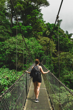Hanging bridges are all over the country