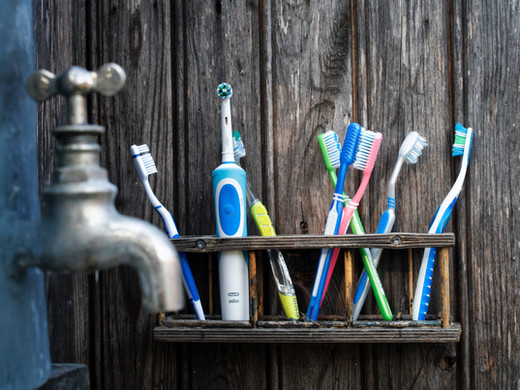 Plastic in the every day toothbrush