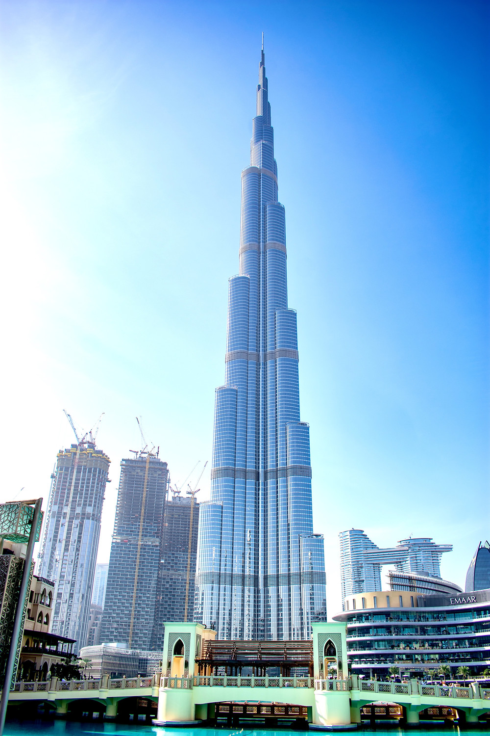 The Burj Khalifa viewed from the ground