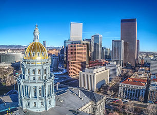 View overlooking downtown Denver and the dome at Union Station. Plan my trip to Denver