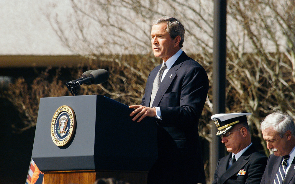 George W Bush speaking