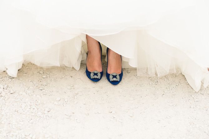 The very important subject of bridal shoes