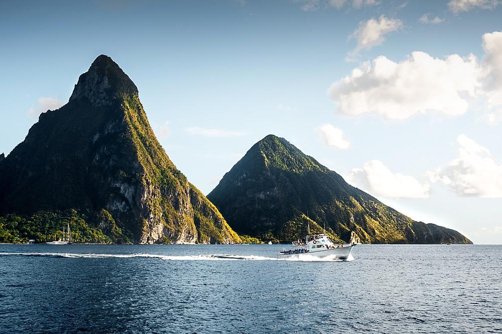 Bluetail_Travel_Travel_Agency_Arlington_VA_Photo of peaks in Saint Lucia