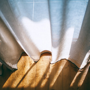 Platonically Picking Out Curtains With Broken Electric Light's Haywire Remnants by Ellen Huang