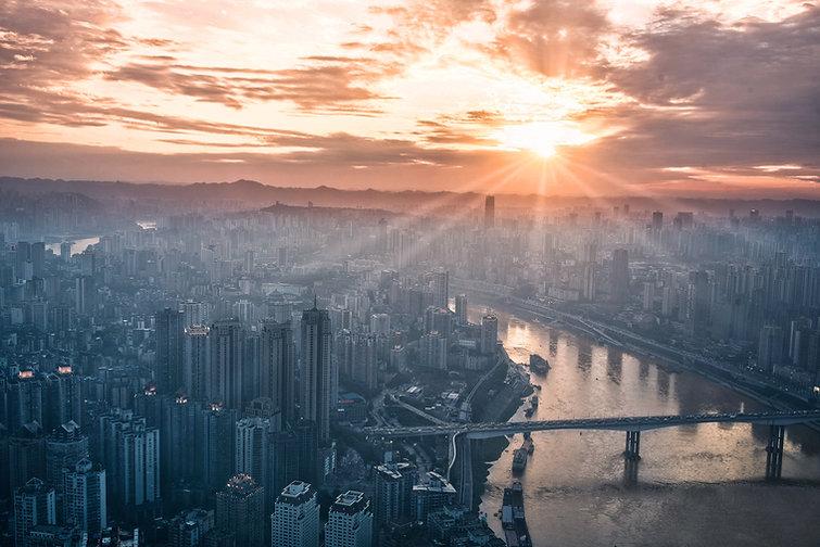 Sunset over office buildings | CRO Coaching | Jon Macdonald | www.AlwaysChoose.com