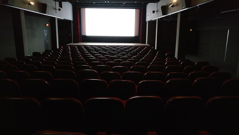 Image shows an empty cinema
