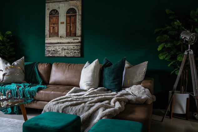 Use COLOR and ART to give old furnishings a new look.