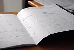 Calendar of customer deciding when to schedule their AC Service