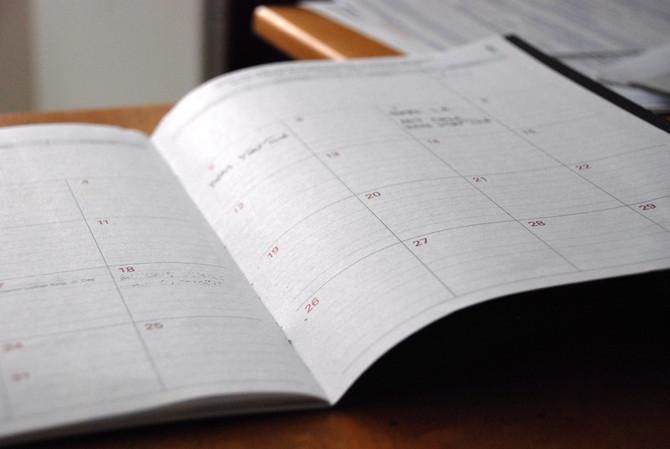 Year End Sales Calendar