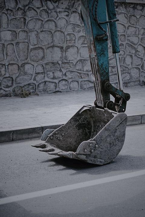 Digging a foundation