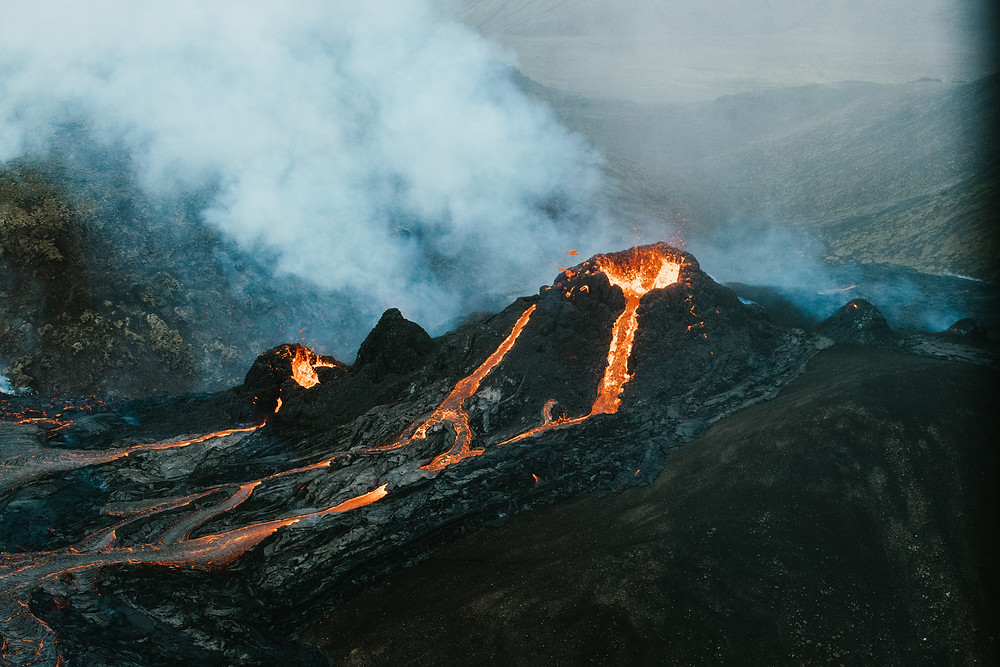 Very Scary Active Volcano (The monster is hiding)
