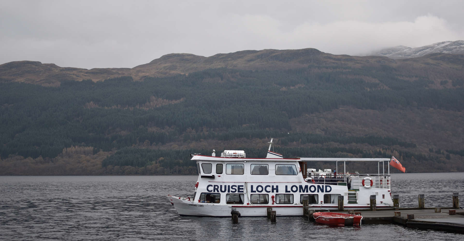 private cruise boat on loch lomond