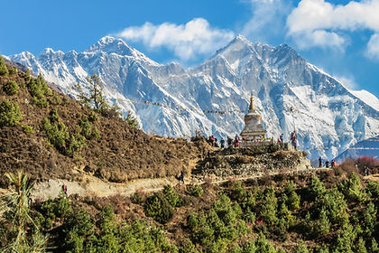 Nepal's most famous trek must be Everest Basecamp and on this 15-day guided hike in the footsteps of Edmund Hillary and Tenzing Norgay you will discover why.  Hiking amongst the giants of the Himalaya, Ama Dablam, Lhotse, Island Peak and Makalu, you will follow age-old mountain trails to famous places like Namche Bazaar and the monastery at Thyangboche to arrive at Everest Base Camp.  Here you will get glorious views of glaciers, lakes, caves, and the notorious Everest Ice Fall.  The icing on the cake is the trek to Kala Patar, famous for sensational sunrise views of Everest itself.