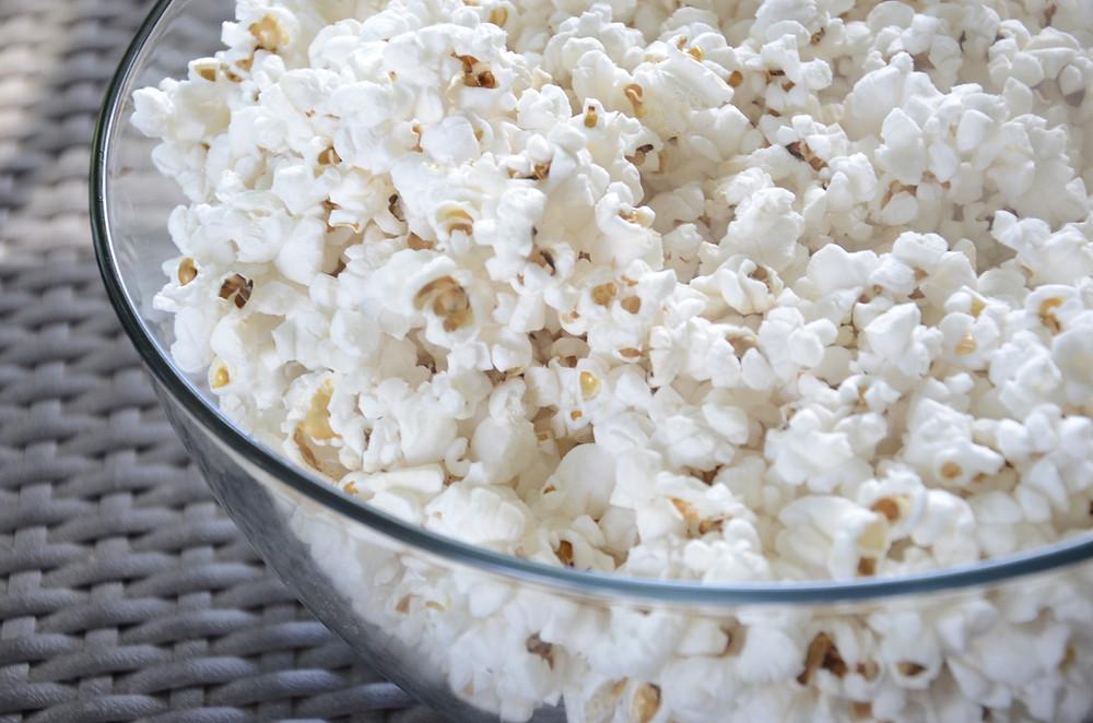 popcorn, popcorn bowl, snack popcorn, snack